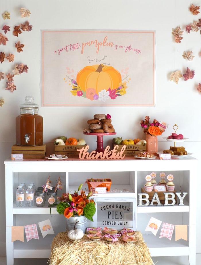 Little Pumpkin Fall Baby Shower on Kara's Party Ideas | KarasPartyIdeas.com (31)