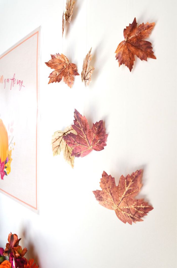 Leaf backdrop from a Little Pumpkin Fall Baby Shower on Kara's Party Ideas | KarasPartyIdeas.com (29)
