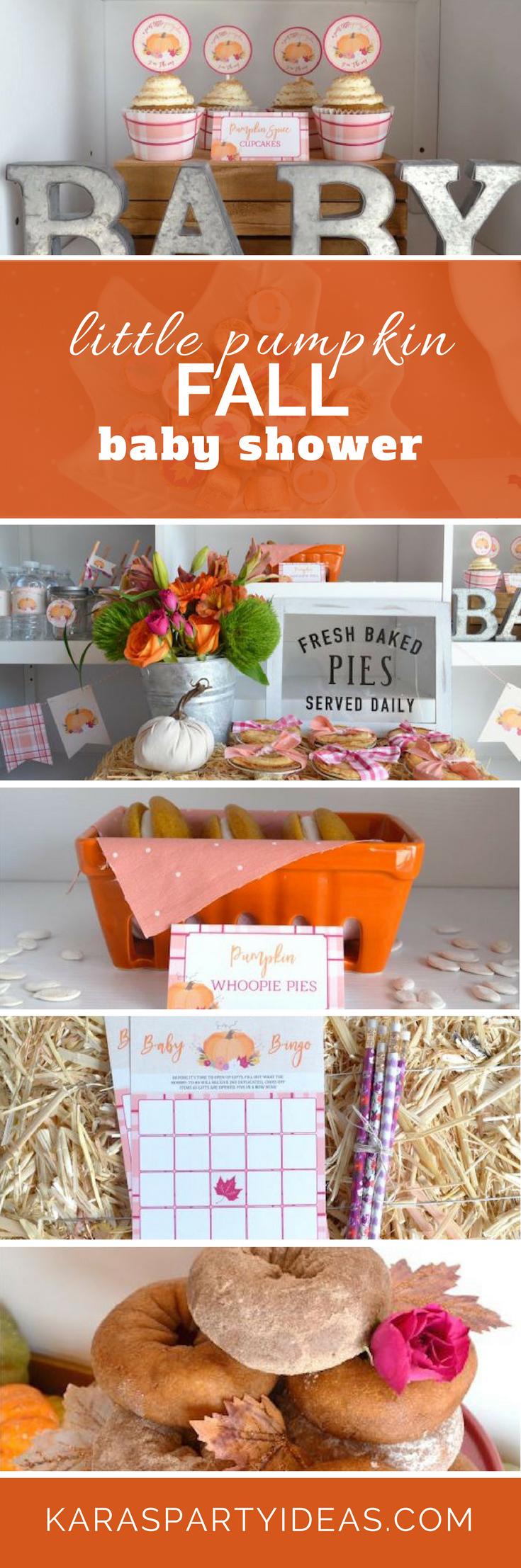 Little Pumpkin Fall Baby Shower via Kara's Party Ideas - KarasPartyIdeas.com