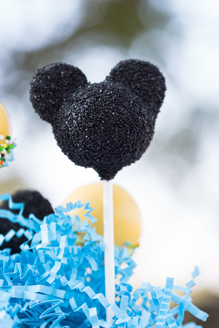 Mickey Mouse Cake Pop from a Mickey Mouse & Friends Ice Cream Party on Kara's Party Ideas | KarasPartyIdeas.com (17)