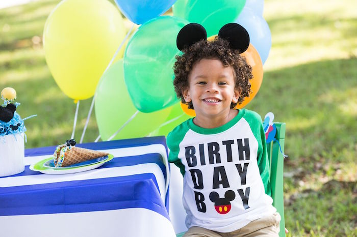 Birthday Boy from a Mickey Mouse & Friends Ice Cream Party on Kara's Party Ideas | KarasPartyIdeas.com (15)