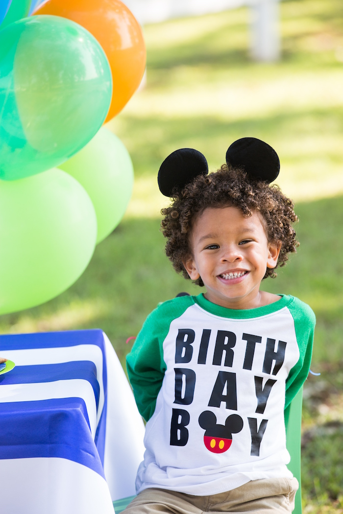 Mickey Mouse birthday boy shirt from a Mickey Mouse & Friends Ice Cream Party on Kara's Party Ideas | KarasPartyIdeas.com (12)