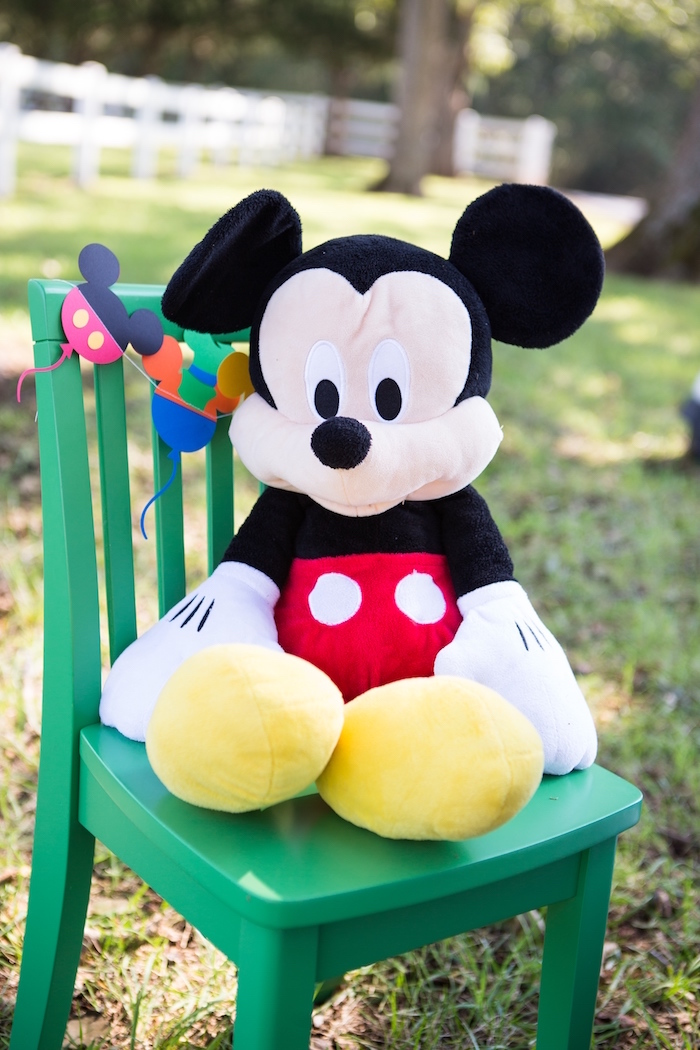 Mickey Mouse Plush from a Mickey Mouse & Friends Ice Cream Party on Kara's Party Ideas | KarasPartyIdeas.com (9)
