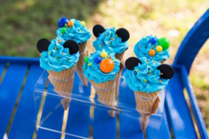 Mickey Mouse cupcake cones from a Mickey Mouse & Friends Ice Cream Party on Kara's Party Ideas | KarasPartyIdeas.com (24)
