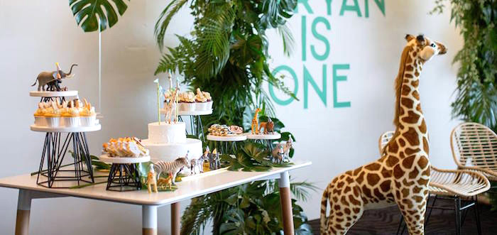 Minimalist Safari Birthday Party on Kara's Party Ideas | KarasPartyIdeas.com (3)