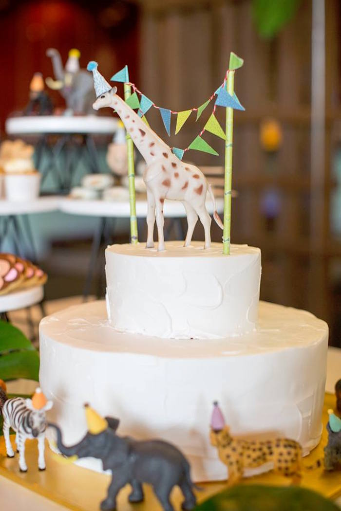 Cake from a Minimalist Safari Birthday Party on Kara's Party Ideas | KarasPartyIdeas.com (18)