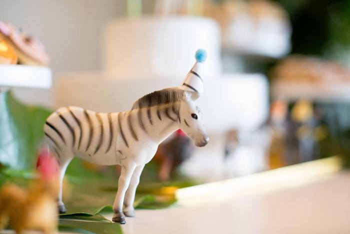 Zebra decoration from a Minimalist Safari Birthday Party on Kara's Party Ideas | KarasPartyIdeas.com (16)