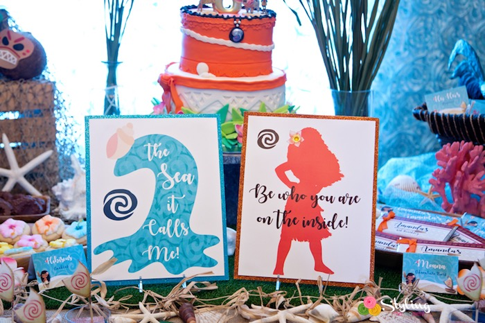 Signage from a Moana Inspired Tropical Birthday Party on Kara's Party Ideas | KarasPartyIdeas.com (16)