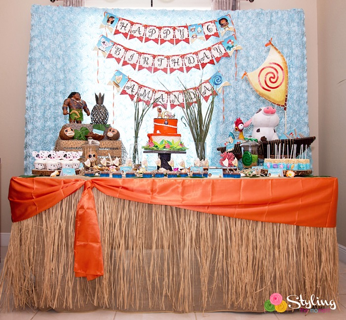 Kara S Party Ideas Moana Inspired Tropical Birthday Party