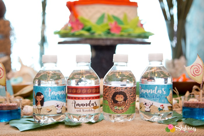 Moana Water Bottle Labels from a Moana Inspired Tropical Birthday Party on Kara's Party Ideas | KarasPartyIdeas.com (13)