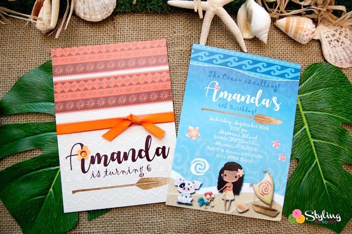 Moana Party Invite from a Moana Inspired Tropical Birthday Party on Kara's Party Ideas | KarasPartyIdeas.com (12)