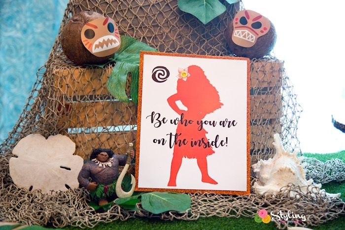Silhouette signage from a Moana Inspired Tropical Birthday Party on Kara's Party Ideas | KarasPartyIdeas.com (10)