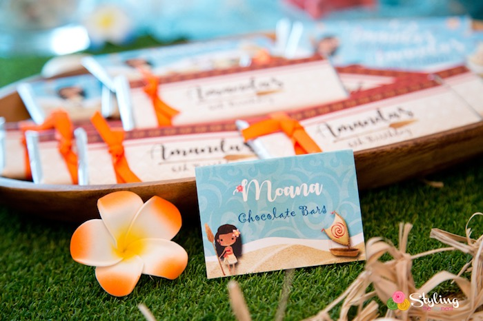 Sweet label from a Moana Inspired Tropical Birthday Party on Kara's Party Ideas | KarasPartyIdeas.com (28)