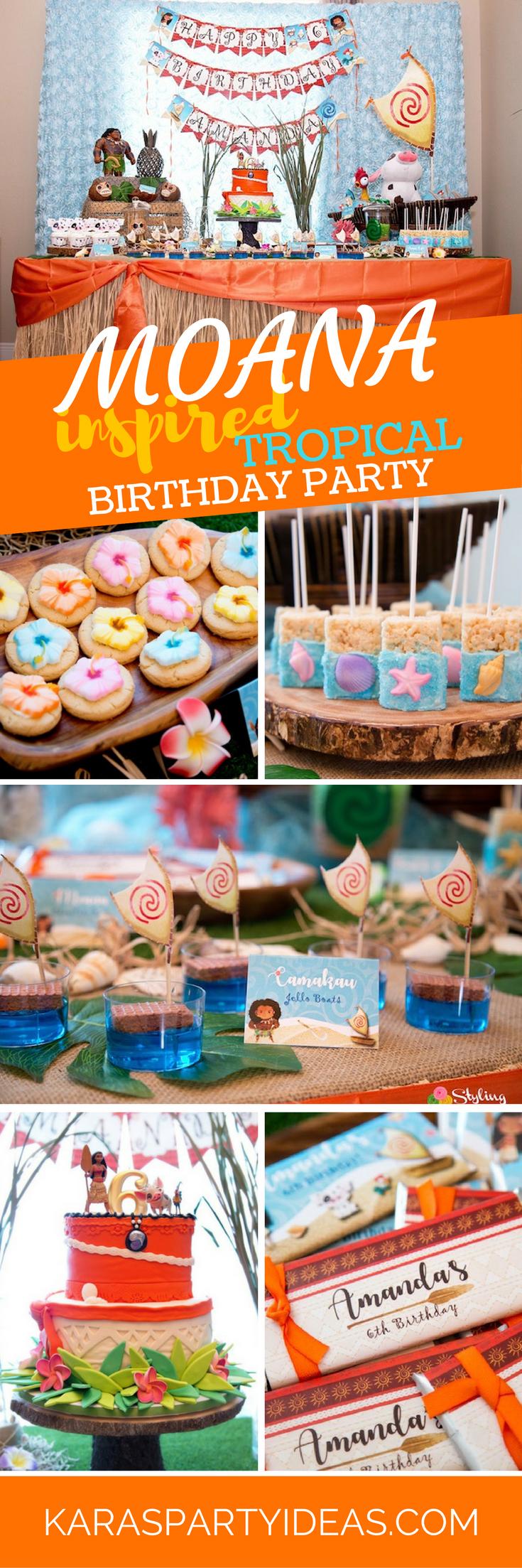 Moana Inspired Tropical Birthday Party via Kara's Party Ideas - KarasPartyIdeas.com