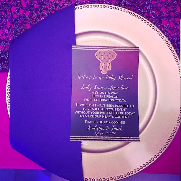 Place setting from a Moroccan Baby Shower on Kara's Party Ideas | KarasPartyIdeas.com (13)