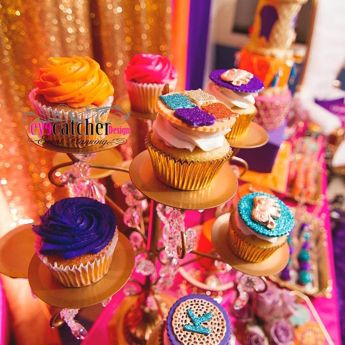Cupcakes from a Moroccan Baby Shower on Kara's Party Ideas | KarasPartyIdeas.com (11)