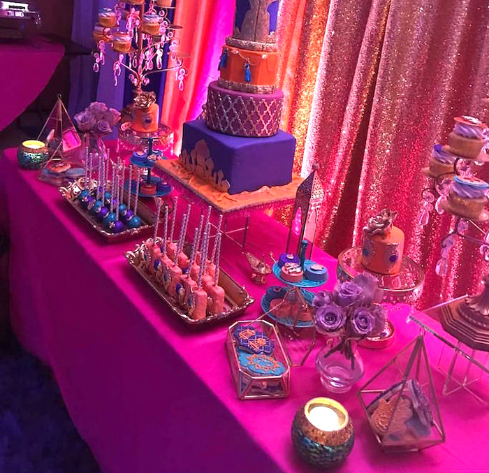 Sweet table from a Moroccan Baby Shower on Kara's Party Ideas | KarasPartyIdeas.com (10)