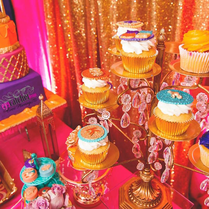 Cupcakes From A Moroccan Baby Shower On Karau0027s Party Ideas |  KarasPartyIdeas.com (7