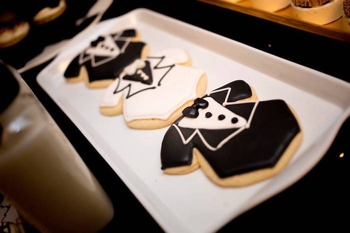 Tuxedo cookies from a Mr. ONE-derful 1st Birthday Party on Kara's Party Ideas | KarasPartyIdeas.com (19)