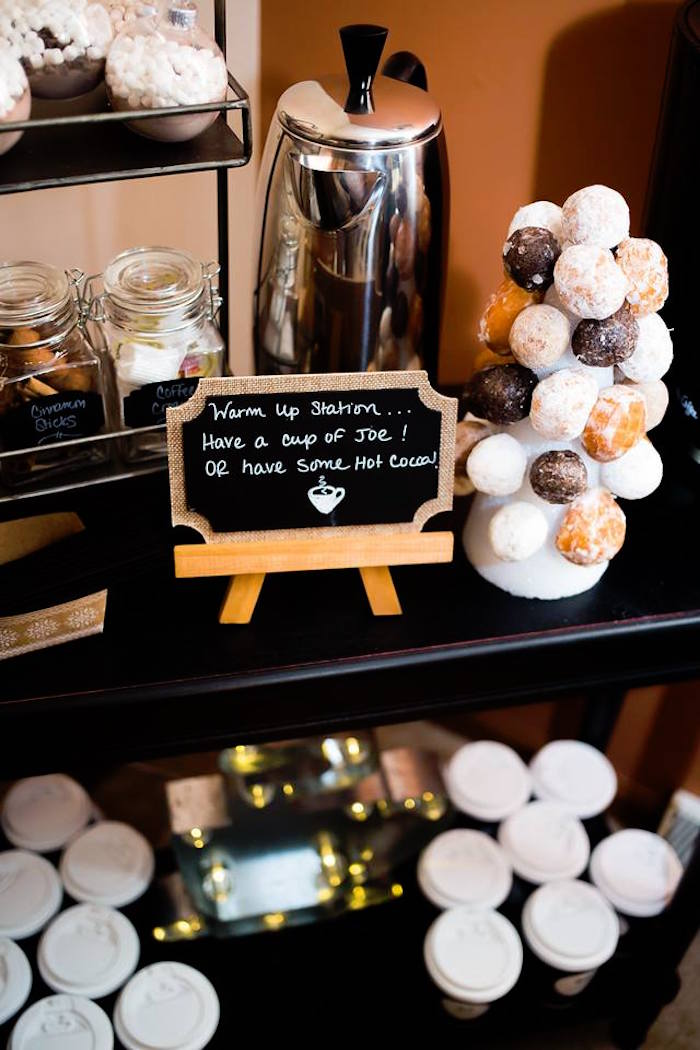 Cup of Joe station from a Mr. ONE-derful 1st Birthday Party on Kara's Party Ideas | KarasPartyIdeas.com (15)