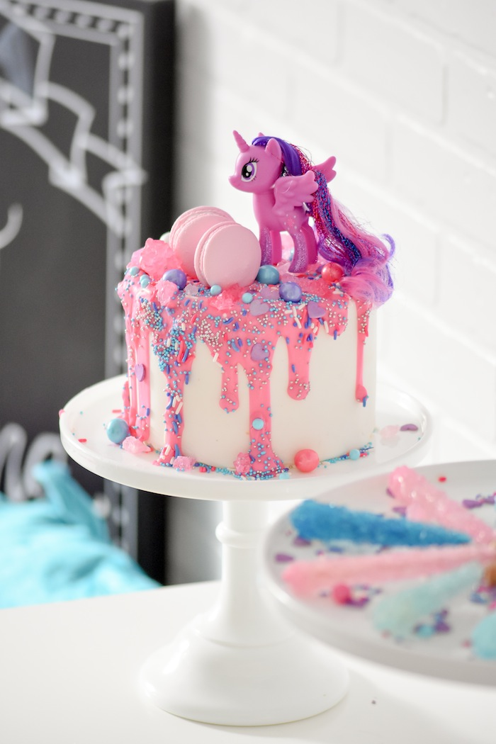 My Little Pony Princess Sparkle Cake! My Little Pony The Movie Party by Kara's Party Ideas | KarasPartyIdeas.com