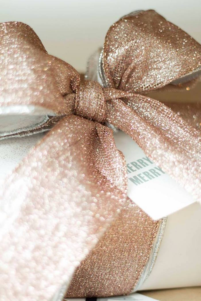 Gift wrapping from a Nordic Luxe Christmas Party on Kara's Party Ideas | KarasPartyIdeas.com (10)