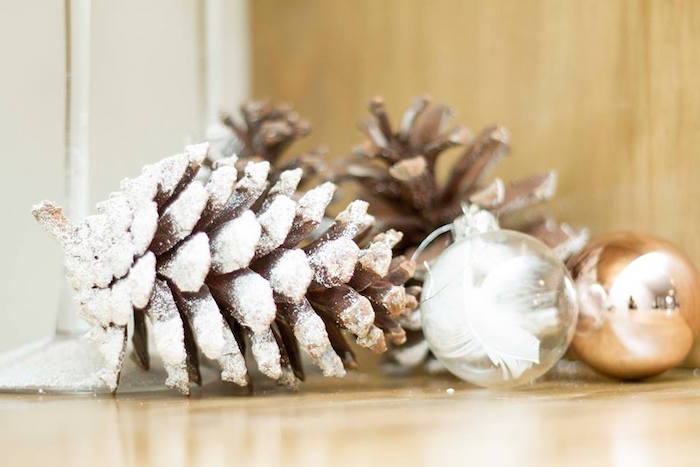 Winter decor from a Nordic Luxe Christmas Party on Kara's Party Ideas | KarasPartyIdeas.com (21)