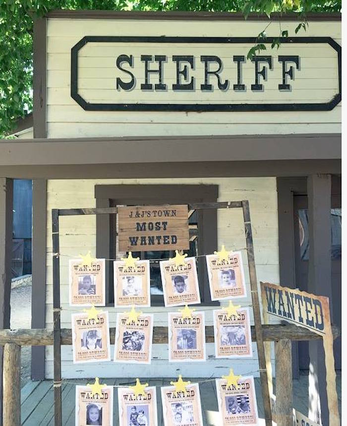 Sheriff's office from an Old Western Town Birthday Party on Kara's Party Ideas | KarasPartyIdeas.com (17)