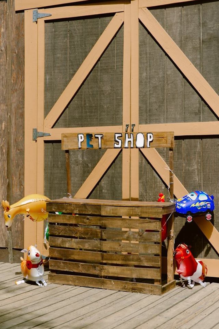 Pet Shop from an Old Western Town Birthday Party on Kara's Party Ideas | KarasPartyIdeas.com (16)