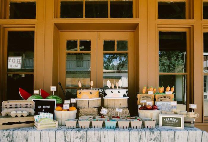 Dessert table form an Old Western Town Birthday Party on Kara's Party Ideas | KarasPartyIdeas.com (14)