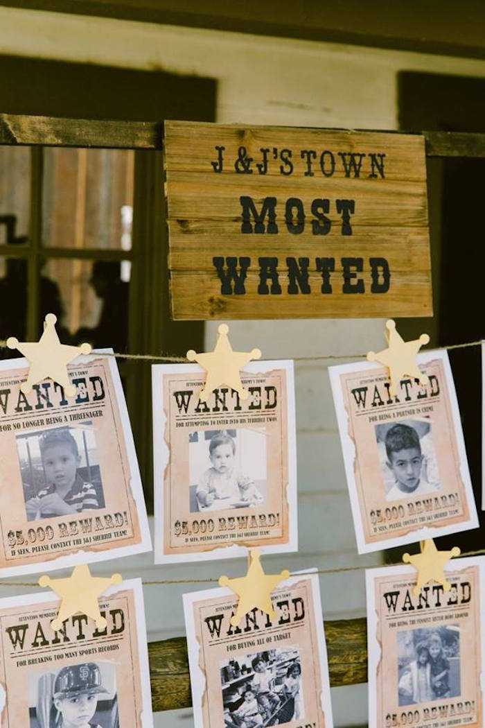 Custom Wanted Posters from an Old Western Town Birthday Party on Kara's Party Ideas | KarasPartyIdeas.com (21)