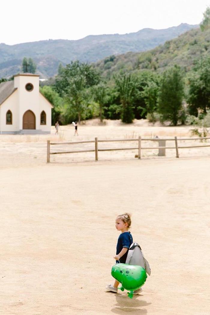 Old schoolhouse/church from an Old Western Town Birthday Party on Kara's Party Ideas | KarasPartyIdeas.com (20)
