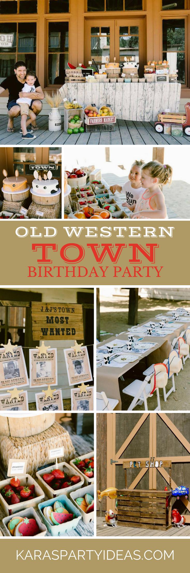 Old Western Town Birthday Party via Kara's Party Ideas - KarasPartyIdeas.com