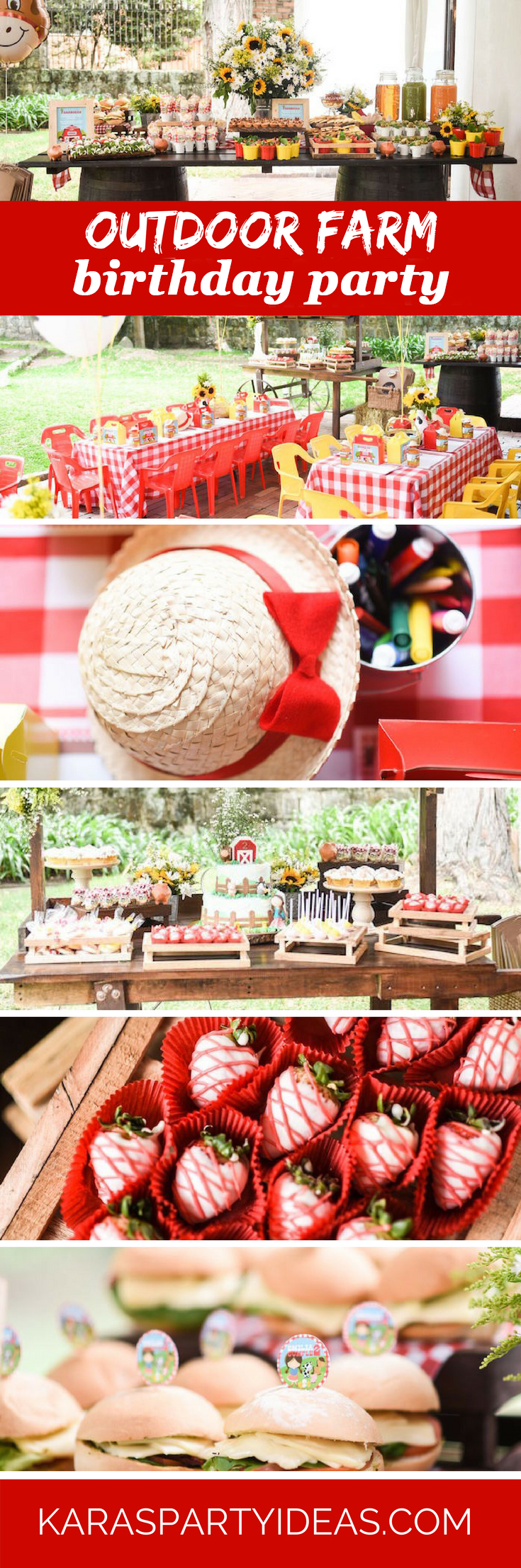 Outdoor Farm Birthday Party via Kara's Party Ideas - KarasPartyIdeas.com