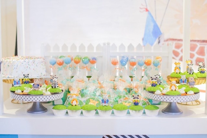 Cupcakes and cake pops from a Party Animal + Zoo Themed Birthday Party on Kara's Party Ideas | KarasPartyIdeas.com (11)