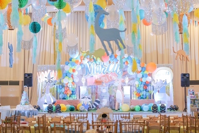 Guest tables + partyscape from a Party Animal + Zoo Themed Birthday Party on Kara's Party Ideas | KarasPartyIdeas.com (23)