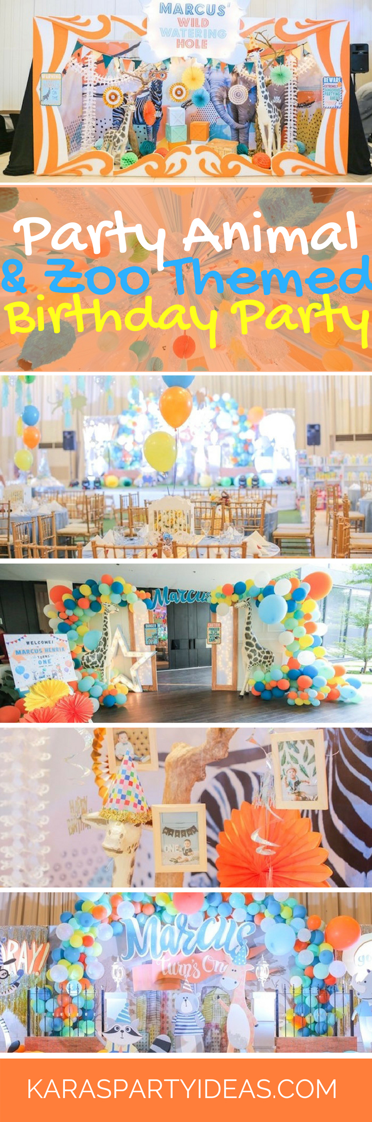 Party Animal and Zoo Themed Birthday Party via Kara's Party Ideas - KarasPartyIdeas.com