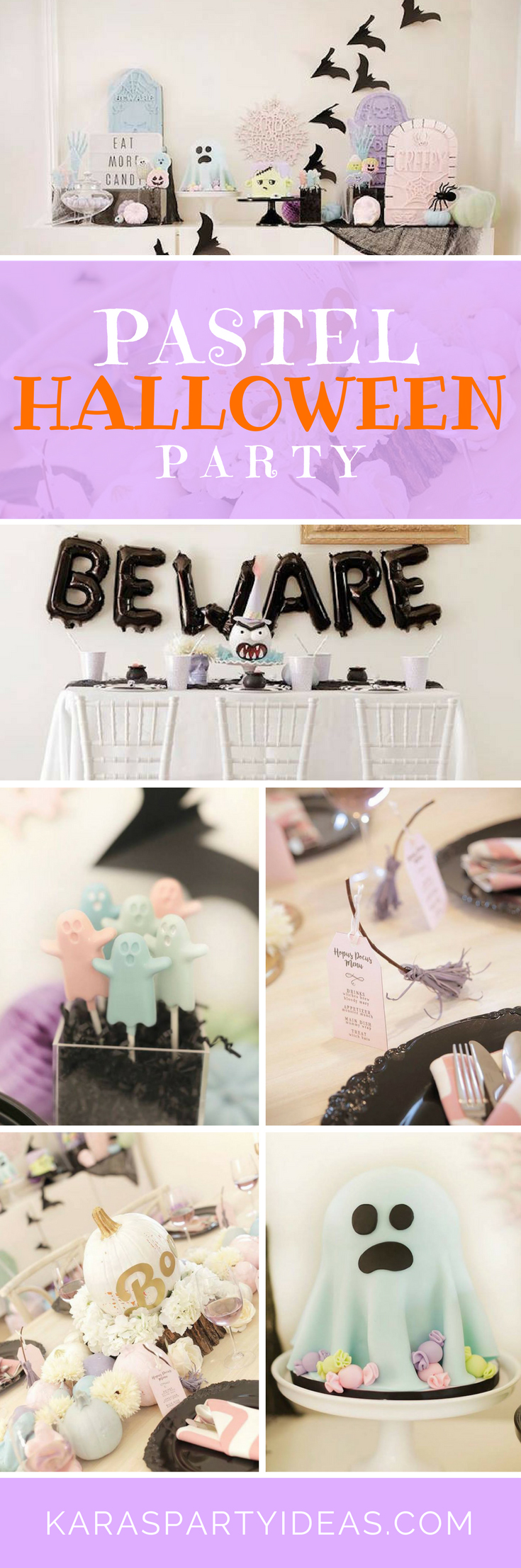 Pastel Halloween Party via Kara's Party Ideas - KarasPartyIdeas.com