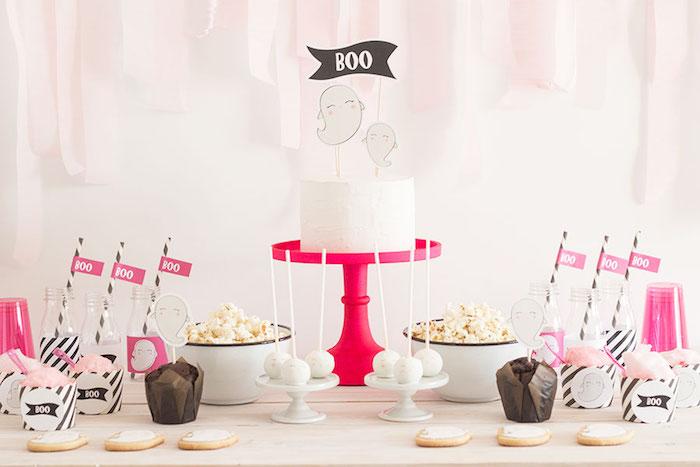 "Pink & Black ""Boo!"" Halloween Party on Kara's Party Ideas | KarasPartyIdeas.com (4)"