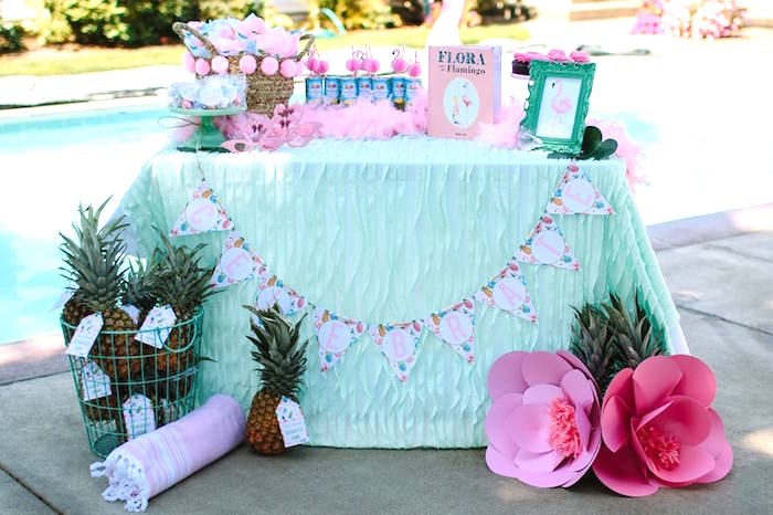 Pink Flora Flamingo Birthday Party on Kara's Party Ideas | KarasPartyIdeas.com (6)