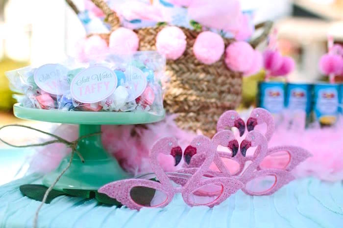 Flamingo sunnies from a Pink Flora Flamingo Birthday Party on Kara's Party Ideas | KarasPartyIdeas.com (19)