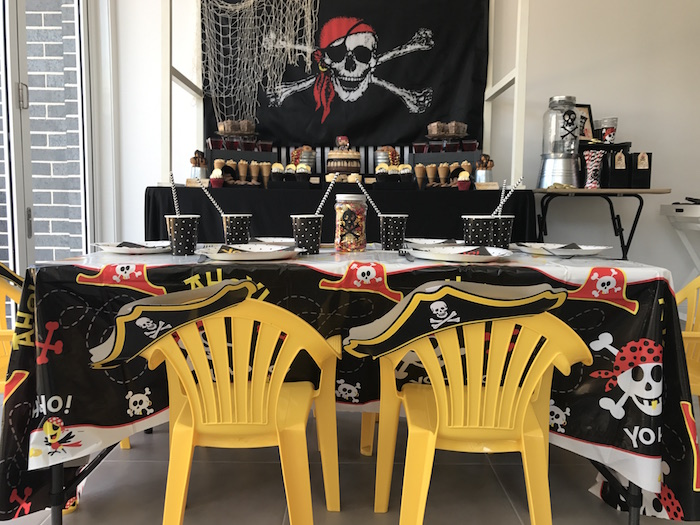 Guest table from a Pirate Birthday Party on Kara's Party Ideas | KarasPartyIdeas.com (28)