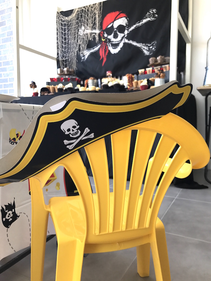 Guest chair from a Pirate Birthday Party on Kara's Party Ideas | KarasPartyIdeas.com (27)