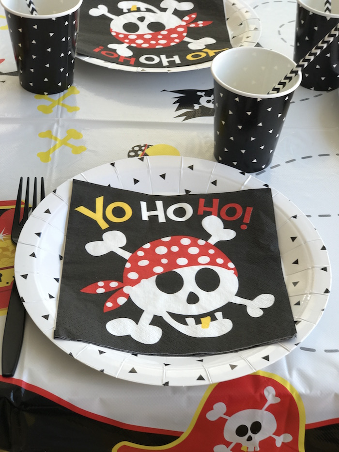 Pirate place setting from a Pirate Birthday Party on Kara's Party Ideas | KarasPartyIdeas.com (26)
