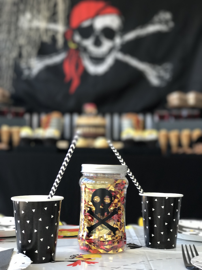 Party cups from a Pirate Birthday Party on Kara's Party Ideas | KarasPartyIdeas.com (25)