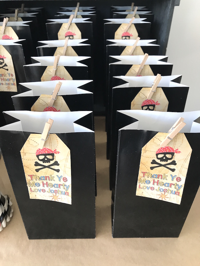 Favor bags from a Pirate Birthday Party on Kara's Party Ideas | KarasPartyIdeas.com (24)