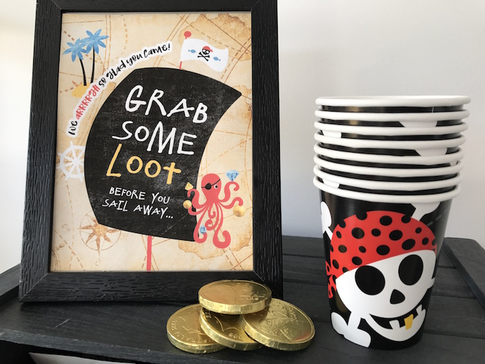 Pirate cups from a Pirate Birthday Party on Kara's Party Ideas | KarasPartyIdeas.com (20)