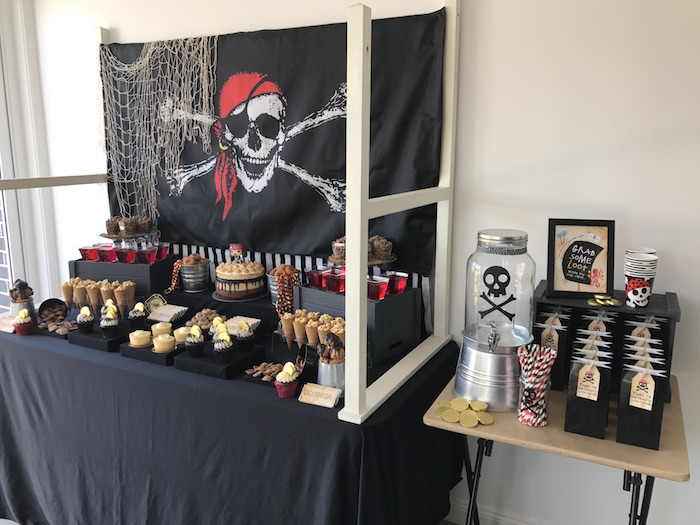 Pirate Birthday Party on Kara's Party Ideas | KarasPartyIdeas.com (15)