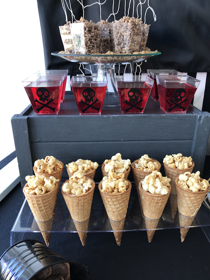 Popcorn cones from a Pirate Birthday Party on Kara's Party Ideas | KarasPartyIdeas.com (11)