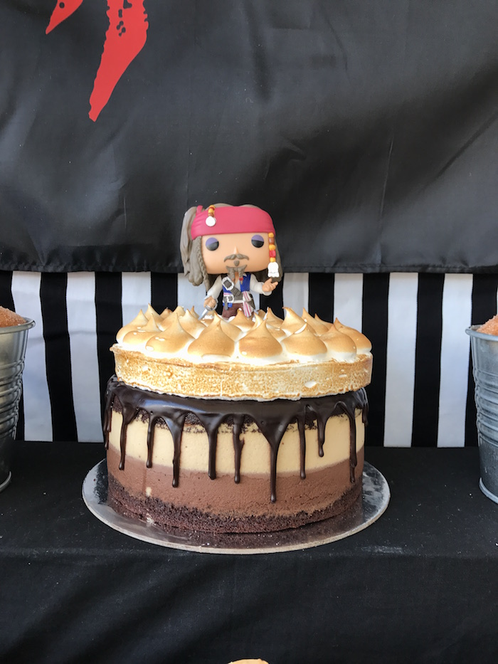 Cake from a Pirate Birthday Party on Kara's Party Ideas | KarasPartyIdeas.com (9)